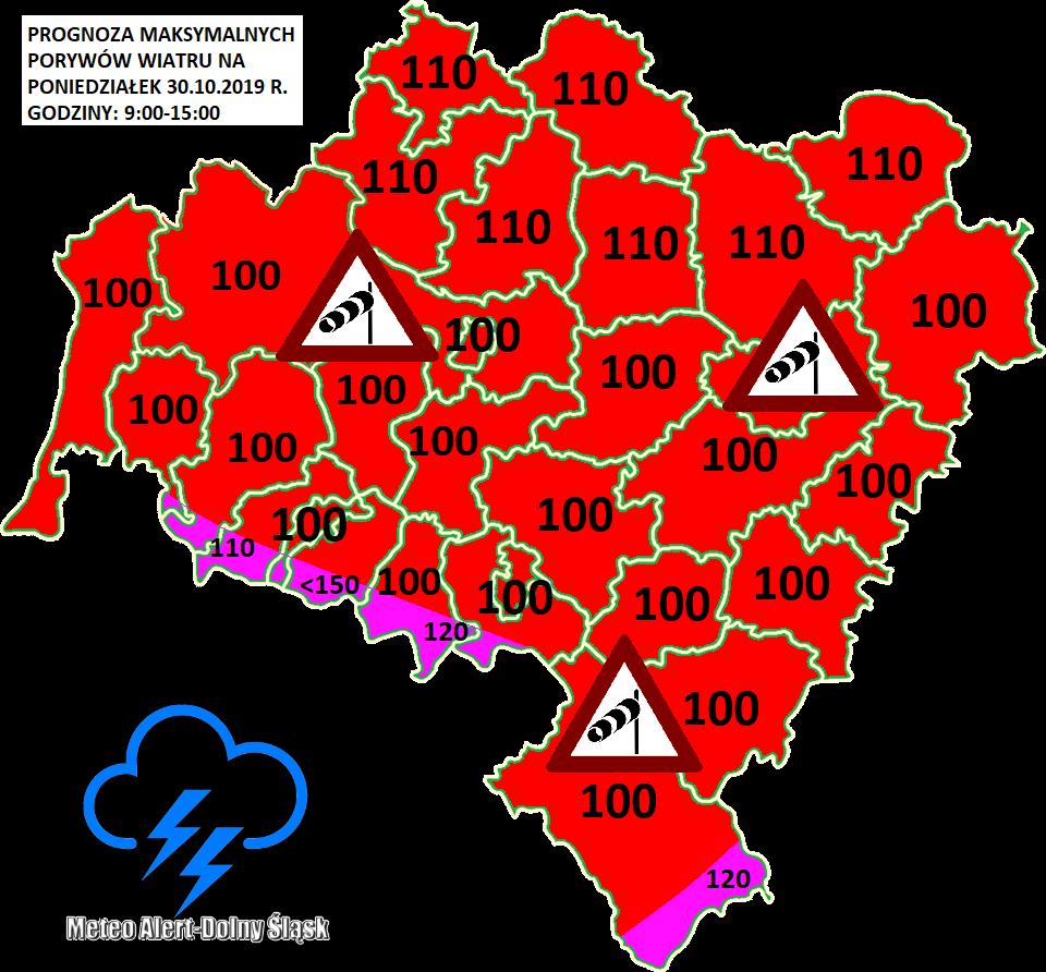 Uwaga! Ostrzeżenie meteorologiczne- silne wichury