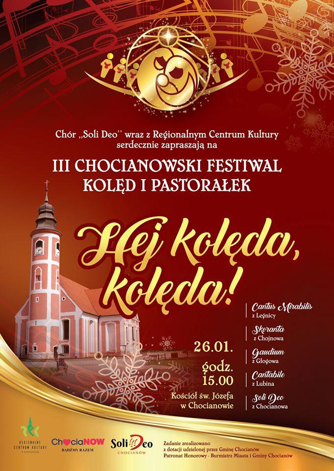 III Chocianowski Festiwal Kolęd i Pastorałek już jutro