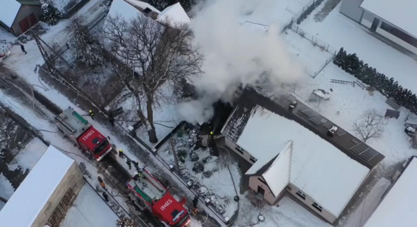 Pożar w Chocianowie (AKTUALIZACJA)