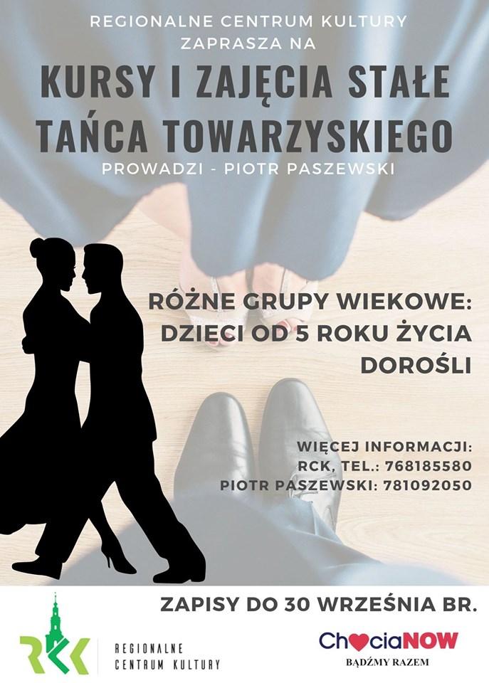 Taniec Towarzyski to kolejna propozycja zajęć w RCK