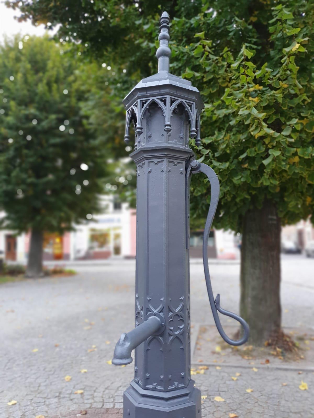 Została naprawiona miejska  pompa