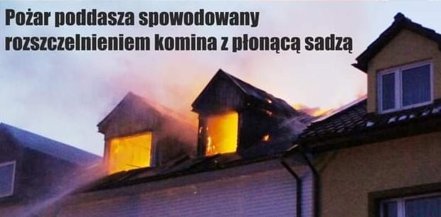Sadza w kominie może doprowadzić do pożaru!