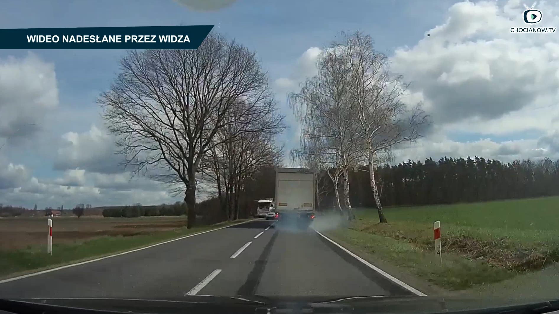 O włos od wypadku w gminie Chocianów (wideo)