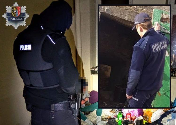 Policjanci niosą pomoc bezdomnym