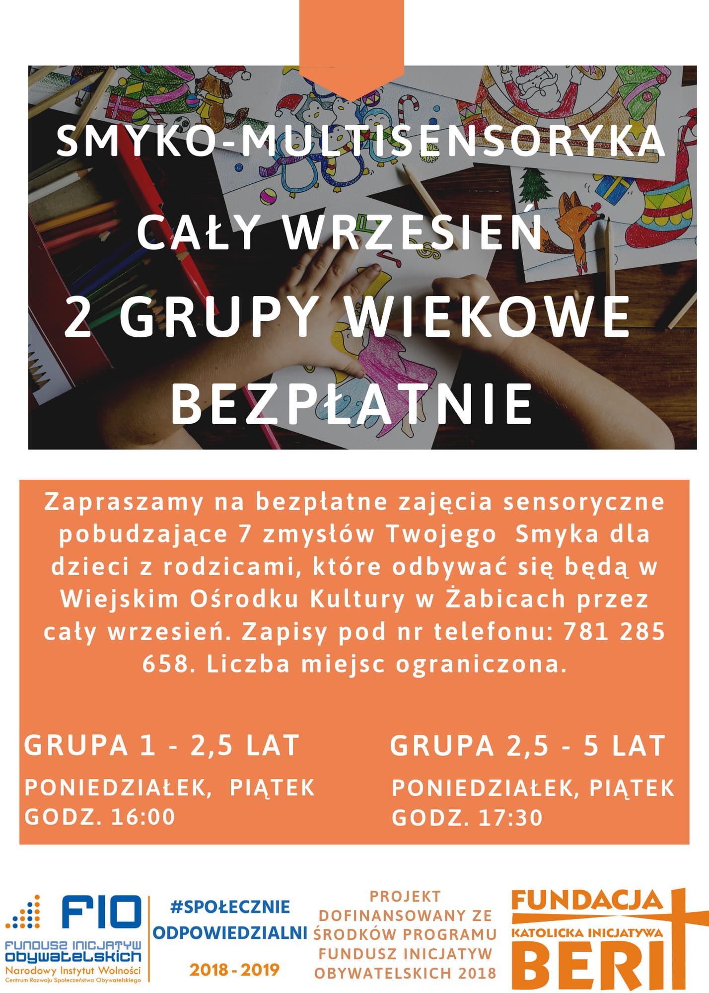 Bezpłatne zajęcia dla dzieci w Żabicach