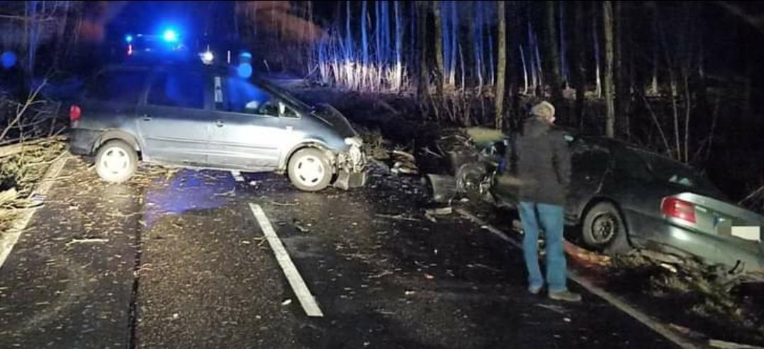 Wypadek na trasie w kierunku Lubina