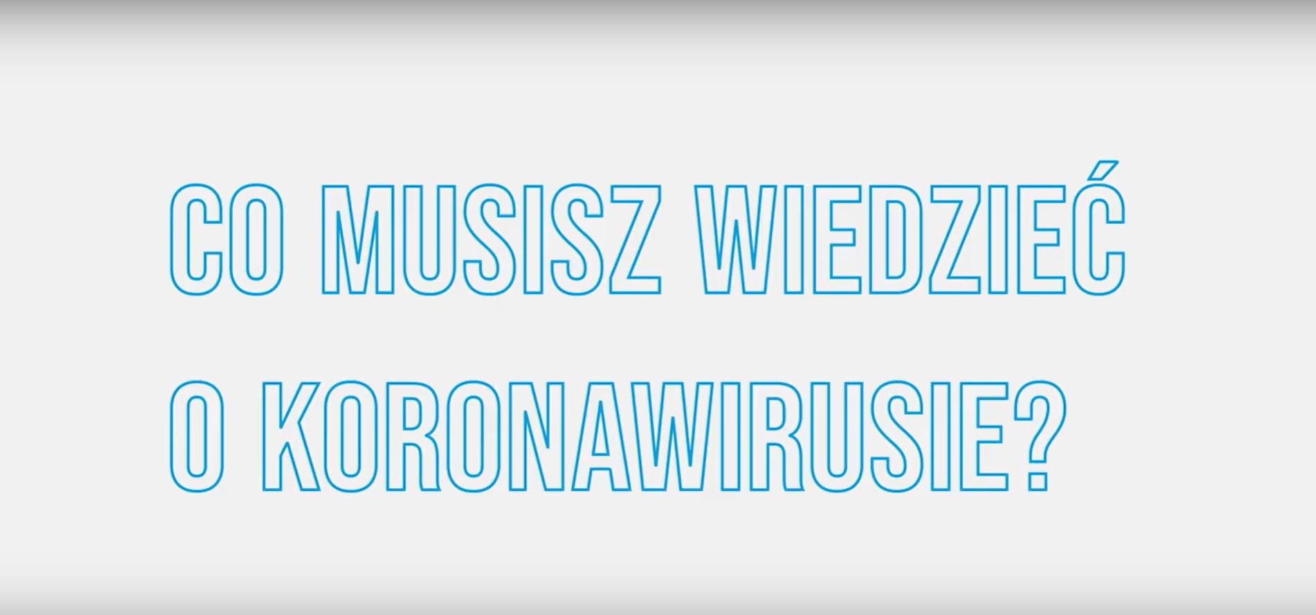 Ministerstwo Zdrowia informuje, co trzeba wiedzieć o koronawirusie! (wideo)