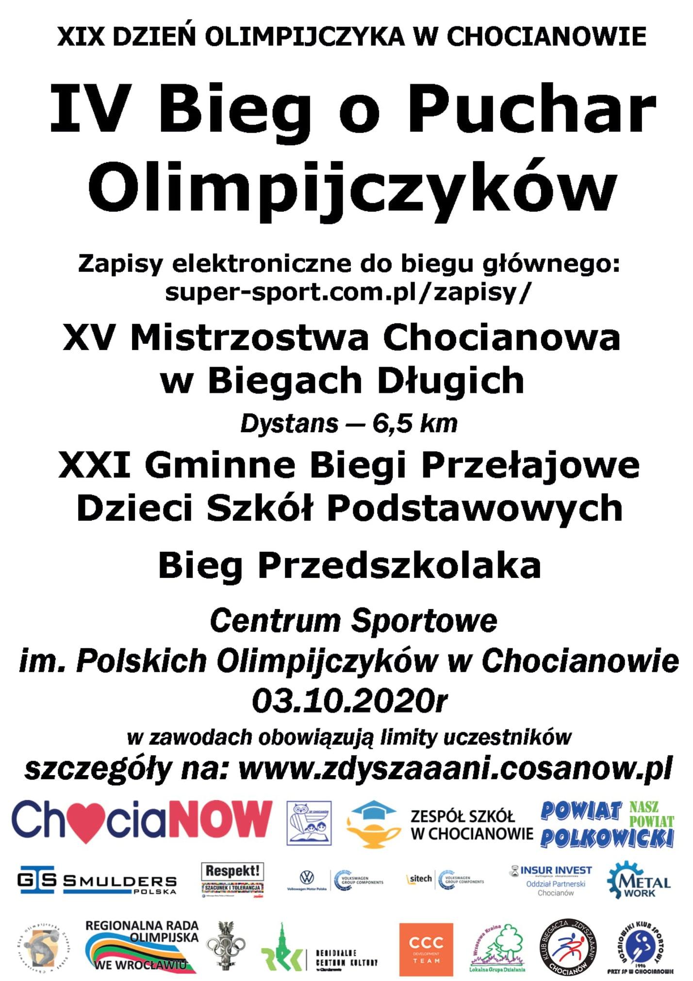 IV Bieg o Puchar Olimpijczyków w pierwszą sobotę października