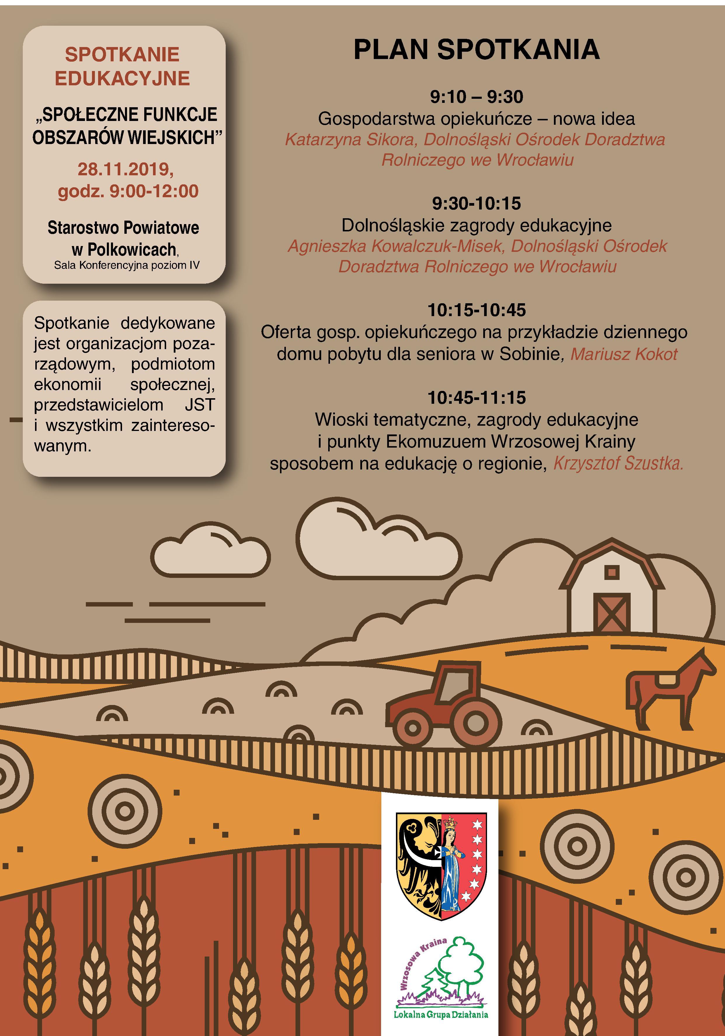 Spotkanie edukacyjne- ,,Społeczne funkcje obszarów wiejskich''