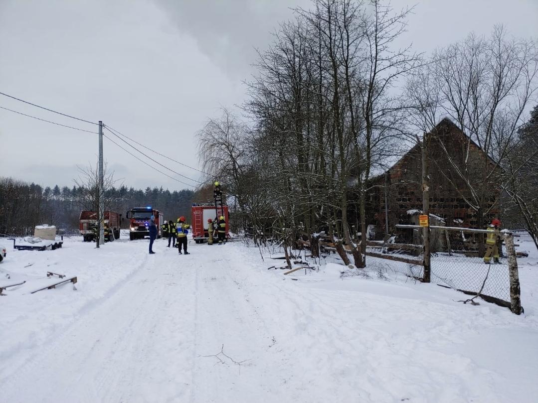 Pożar w Chocianowcu (aktualizacja wideo)