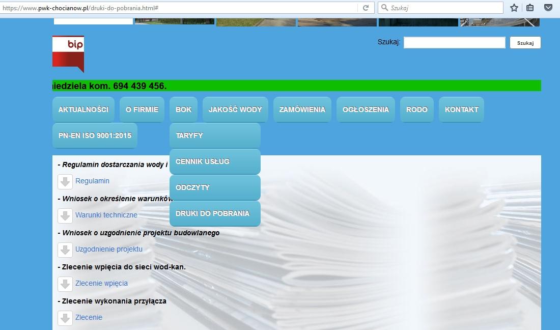 Wnioski i zgłoszenia dostępne w internecie