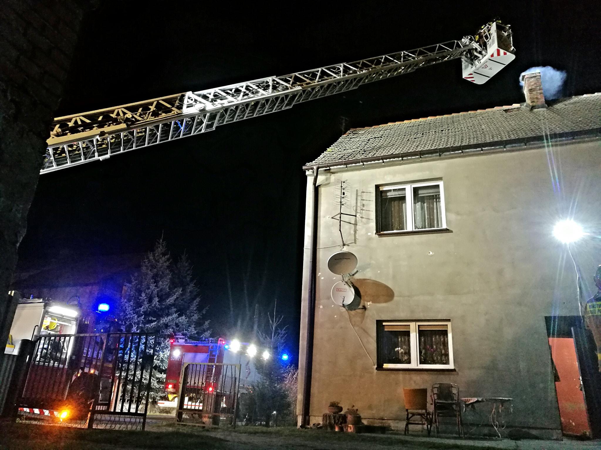 Pożar komina