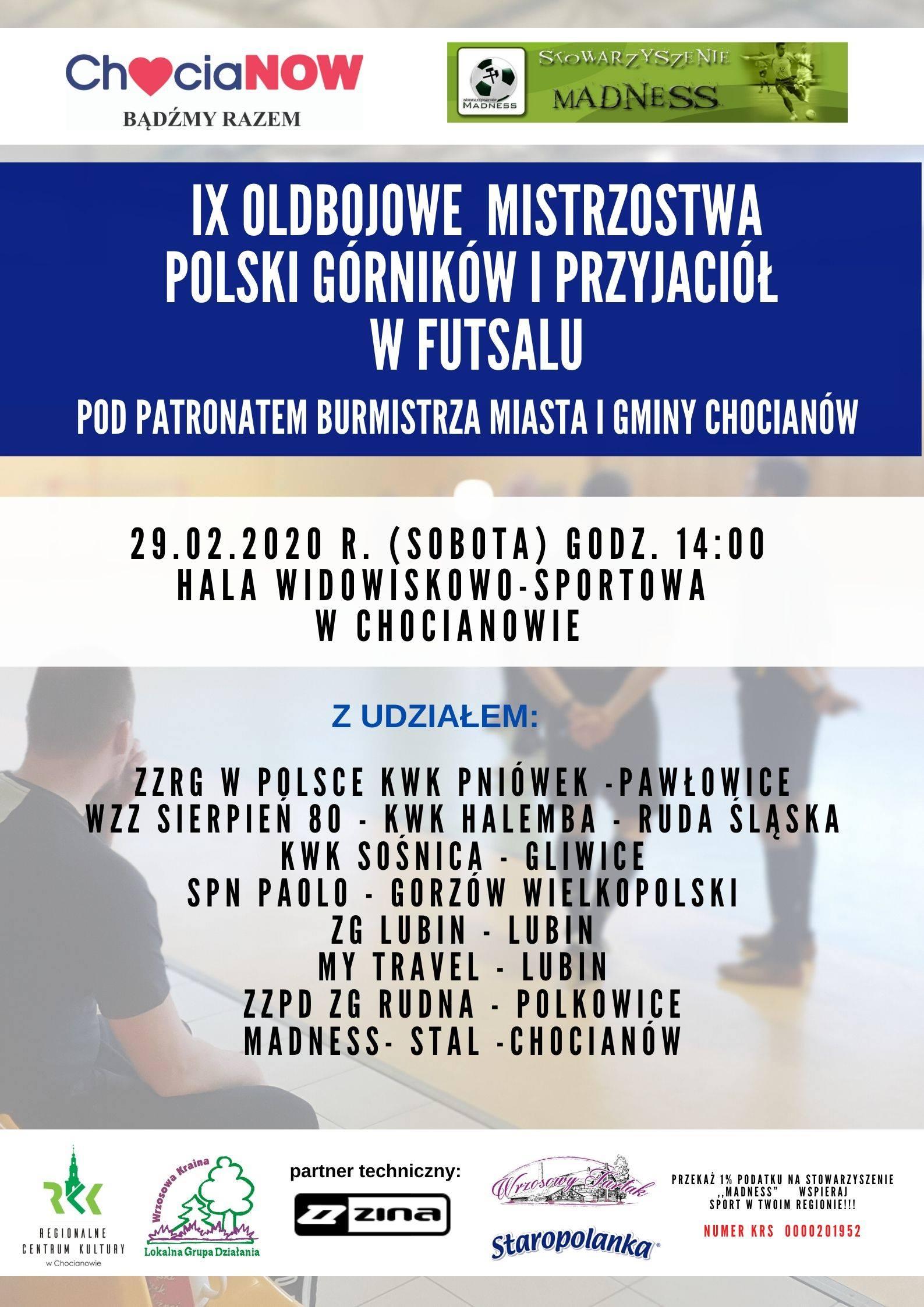 Futsal znowu w Chocianowie - tym razem zmierzą się oldboje