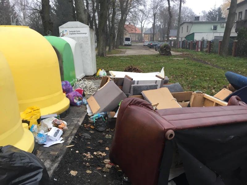 Uciążliwy problem z odpadami w gminie
