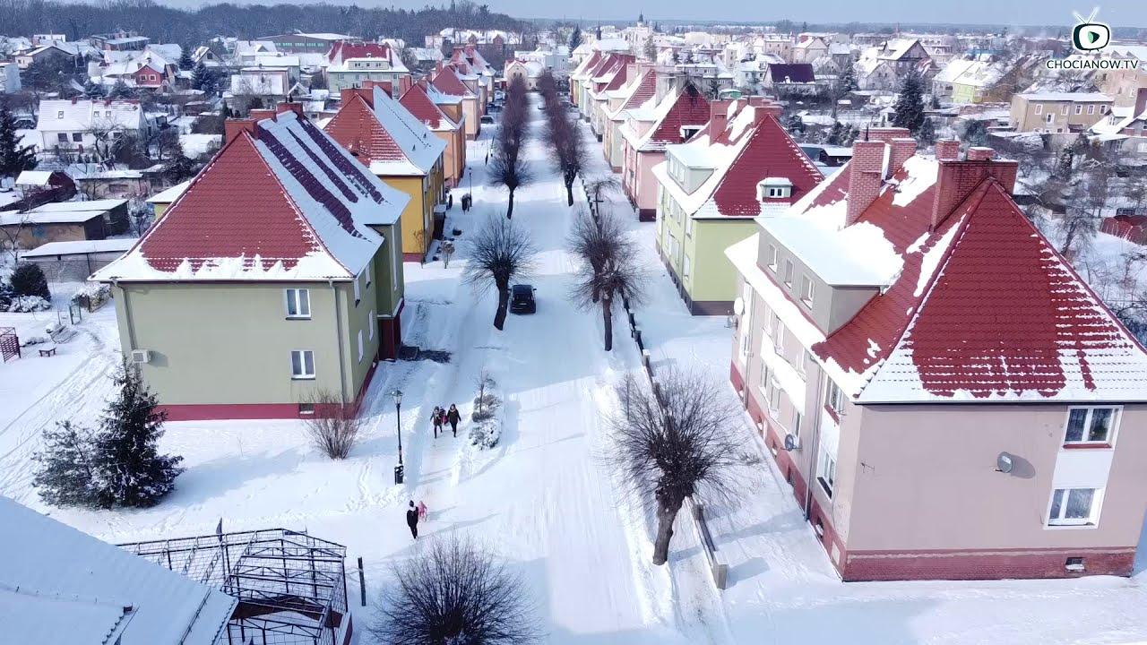 Chocianów pod śniegiem (wideo)