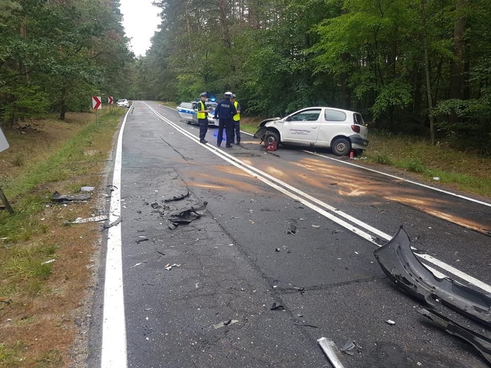 Wypadek drogowy na trasie Polkowice-Parchów