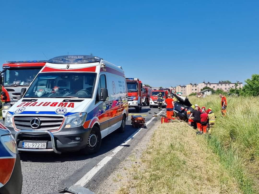 Poważny wypadek w Trzebnicach