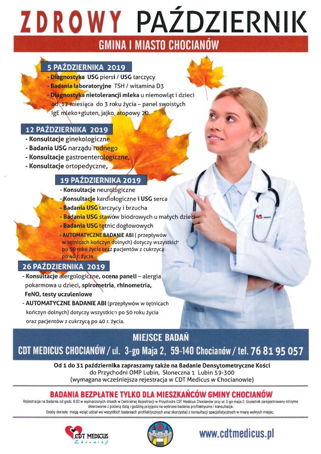 """Bezpłatna akcja """"Październik dla zdrowia"""" wkrótce rusza"""