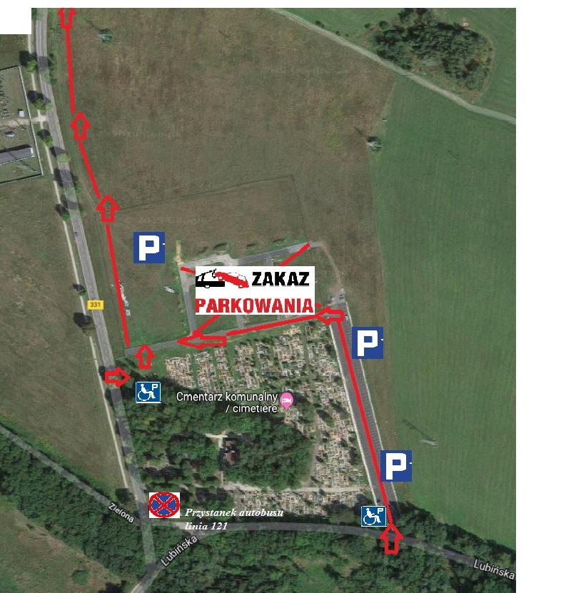 MZGKiM przygotował 260 miejsc parkingowych przy cmentarzu
