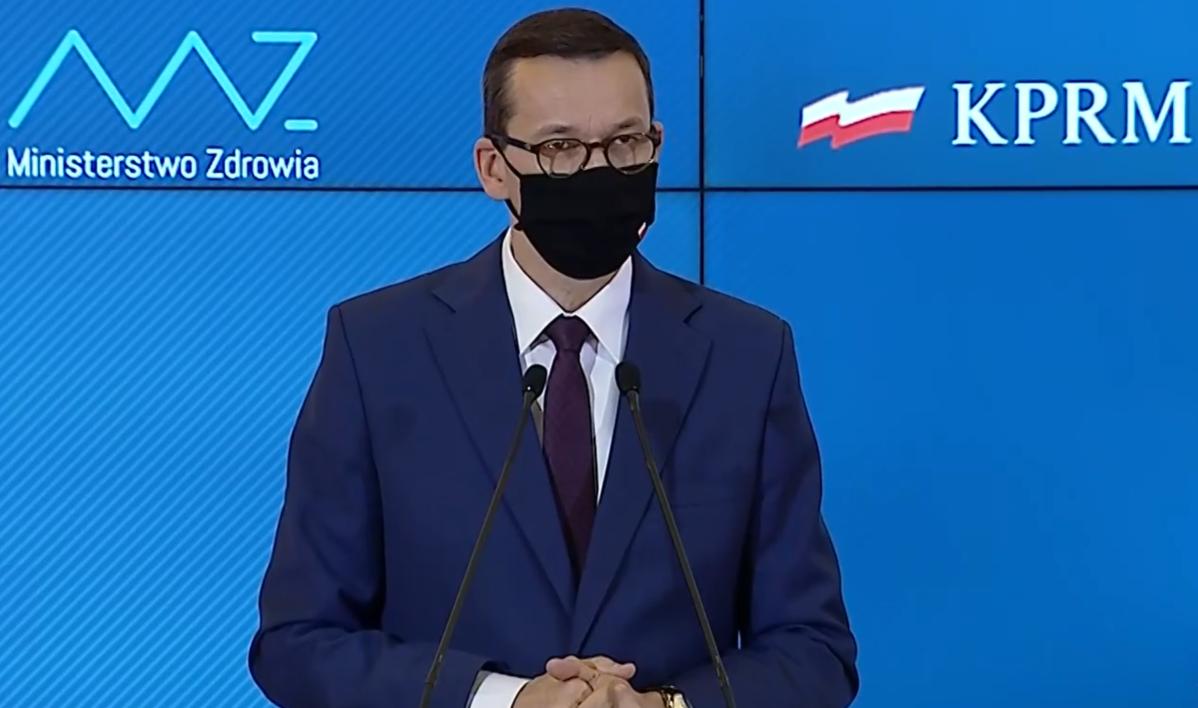 Morawiecki: cała Polska strefą czerwoną