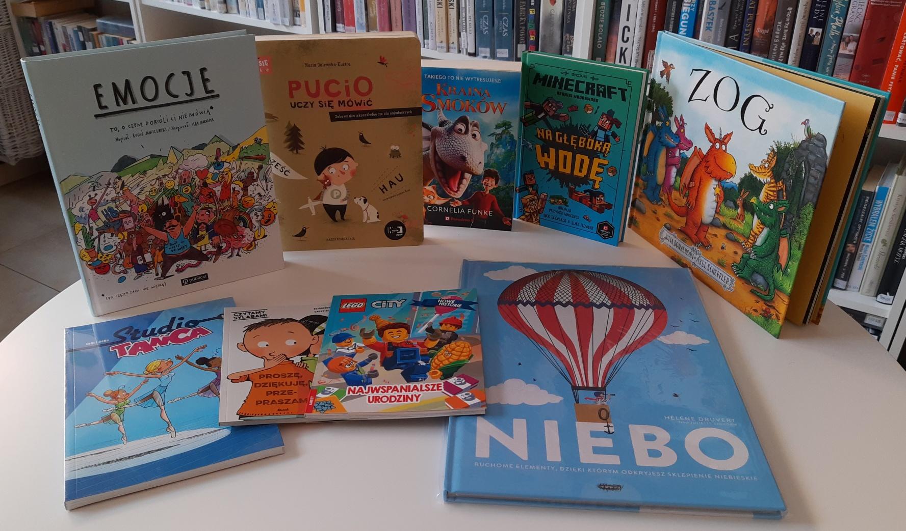 Bogata kolekcja książek zachęca do czytania