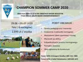Trenerzy UEFA zapraszają na obóz