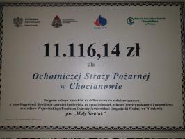 Promesa dla Ochotniczej Straży Pożarnej w Chocianowie