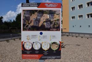 Piłkarze Stali przetestowali urządzenia. Otwarcie Chocianowskiej Ścieżki Zdrowia (galeria zdjęć)