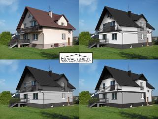Projekty elewacji / wizualizacje fasady
